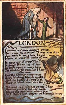 comparison between london by william blake Blake returned to london in 1804 and began to write and  later admired by  ruskin, who compared blake favourably to.